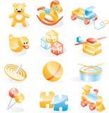 игрушки иконы установленные Стоковые Изображения RF
