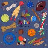 Игрушки и шарики любимчика Стоковые Фотографии RF