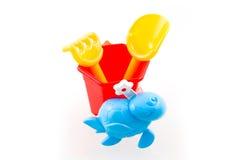 игрушки красного цвета ведра Стоковое Изображение