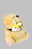 игрушки медведя заполненные кроликом Стоковое Изображение RF