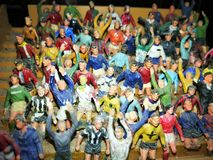 Игрушки миниатюры толпы футбола Стоковое Изображение