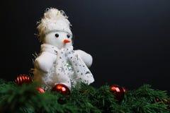 Игрушки Нового Года заполненные украшением стоковое изображение