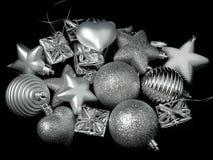 Игрушки Новый Год на рождественской елке Стоковое Изображение RF
