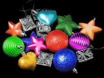 Игрушки Новый Год на рождественской елке Стоковое фото RF