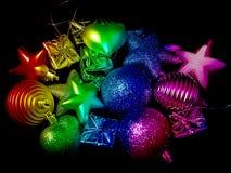 Игрушки Новый Год на рождественской елке Стоковая Фотография RF
