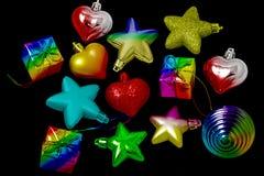 Игрушки Новый Год на рождественской елке Стоковое Изображение
