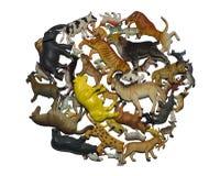 Игрушки одичалых и домашних животных Стоковые Изображения