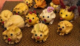 Игрушки от небольших тыкв стоковое фото