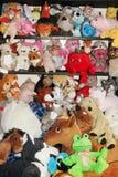 Игрушки плюша для детей в комнате детей Стоковое Изображение