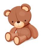 Игрушки - плюшевый медвежонок иллюстрация штока