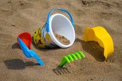 игрушки пляжа стоковая фотография