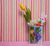Игрушки подарка для дня рождения Стоковая Фотография RF