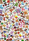 игрушки предпосылки Стоковые Фотографии RF