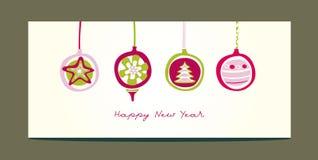игрушки приветствию рождества карточки иллюстрация штока