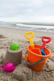 Игрушки пляжа для концепции летнего времени Стоковые Фото