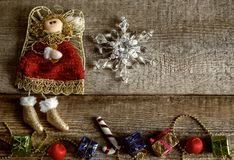 Игрушки рождества, настроение зимы Стоковые Фотографии RF