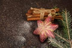 Игрушки рождественской елки тонизировали оформление торжества макроса Стоковые Фотографии RF