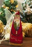 Игрушки рождества деревянные для рождественской елки Игрушка Санта Клауса Стоковые Изображения RF