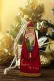 Игрушки рождества деревянные для рождественской елки Игрушка Санта Клауса Стоковое Фото