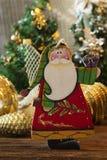 Игрушки рождества деревянные для рождественской елки Игрушка Санта Клауса Стоковая Фотография