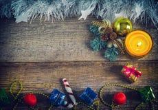 Игрушки рождества, подарочные коробки Стоковая Фотография