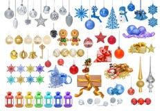 игрушки рождества установленные Стоковое Изображение