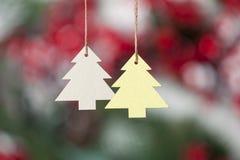 2 игрушки рождественской елки на веревочке Стоковая Фотография RF