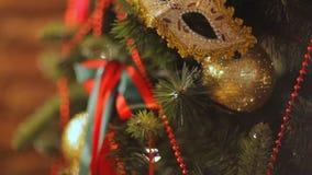 Игрушки, рождество и Новый Год рождественской елки акции видеоматериалы