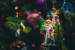 Игрушки Санта Клауса и рождества Стоковое фото RF