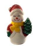 игрушки сфер рождества предпосылки изолированные стеклом белые Стоковое Изображение