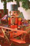 игрушки сфер рождества предпосылки изолированные стеклом белые Стоковые Фотографии RF