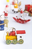 игрушки цветастого украшения рождества установленные деревянные Стоковое фото RF