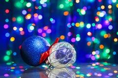 Игрушки шарика украшения Новый Год Стоковые Фотографии RF