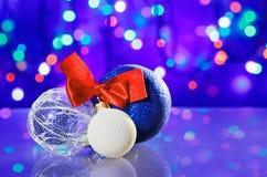 Игрушки шарика украшения Новый Год Стоковые Изображения RF