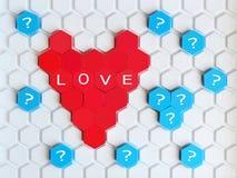 Игрушки ` s детей красные, форма сердца, взгляд сверху Стоковые Фото