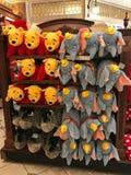 Игрушки Winnie the Pooh и плюша Dumbo для продажи стоковые фото