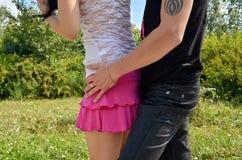 Игры влюбленности в луге Стоковая Фотография RF