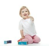 игры девушки кирпичей младенца Стоковые Изображения RF