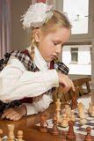 игры девушки шахмат маленькие Стоковое Фото
