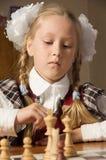 игры девушки шахмат маленькие Стоковое Изображение RF