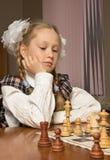 игры девушки шахмат маленькие Стоковая Фотография RF