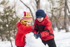 Игры зимы активные Стоковое Изображение