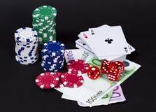 Игры казино играя в азартные игры принципиальная схема Стоковые Изображения RF