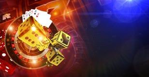 Игры казино удачи иллюстрация вектора