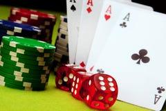 игры казино стоковое изображение rf