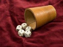 игры кубика играя в азартные игры Стоковые Фото