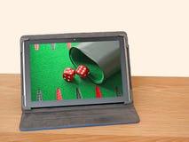 Игры онлайн интернета игры играя в азартные игры Стоковые Изображения RF