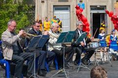Игры оркестра на этапе Стоковое фото RF