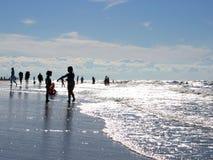игры пляжа Стоковые Изображения