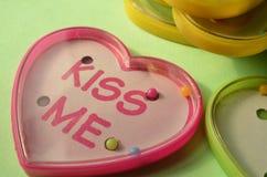 Игры шарика игрушки формы сердца пластичные с текстом Стоковая Фотография RF
